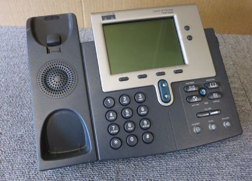 Cisco CP-7961G Unified IP VoIP Business Phone + Expansion Module 7914